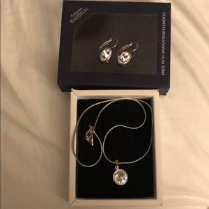 Swarovski elements necklace & earrings